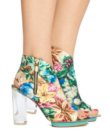 Arden Wohl x CDC Spartali Bootie - Green Floral - was $350 – Cri de Coeur...i used to work for one of the people.....vegan shoes! Gorgeous!
