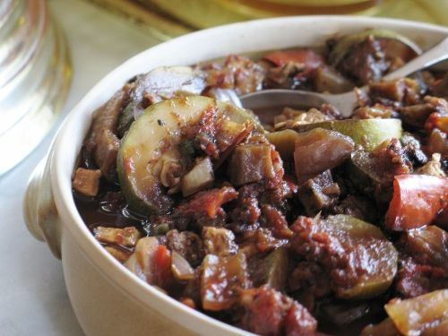 Slow Cooked Ratatouille - could be served with beef or even chicken.