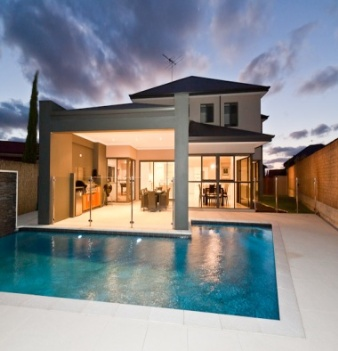 Alfresco Pool - This contemporary home has made the most of having a custom designed pool integrated with the alfresco area. For more home ideas: http://www.residentialattitudes.com.au/my-portfolio/images