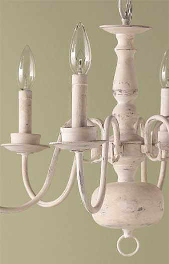 Give an old chandelier a second life with Martha Stewart Crafts Vintage Decor paint.