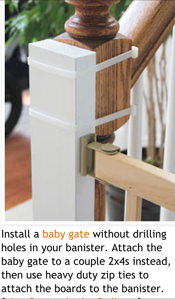 Baby gate for stairs idea