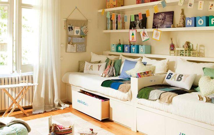 Resultado de imagen de dormitorio invitados tres camas