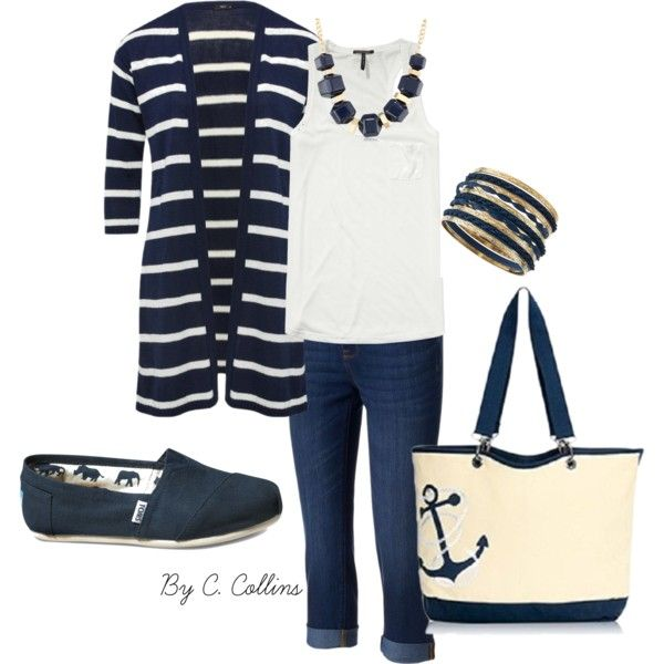 Canvas Crew Tote by Thirty One by ecomn on Polyvore featuring Scotch & Soda, M&Co, Sonoma life + style, TOMS, Jules Smith and Kenneth Cole Looks like it feels good.