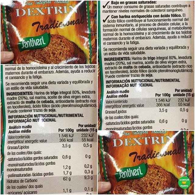 💁🏼PAN INTEGRAL TOSTADO DEXTRIN @santiveri_official.  .  📝Supermercado: @gadis.supermercados, @elcorteingles, @hipercor.  💵P.V.P: 2,50 euros aprox.  .  📸 @cambiahabitosyganasalud.  .  #lacestadefranitagadis #lacestadefranitaelcorteingles #lacestadefranitahipercor #healthyfranita #followme #follow #like4like #supermercado #basicos #panintegral