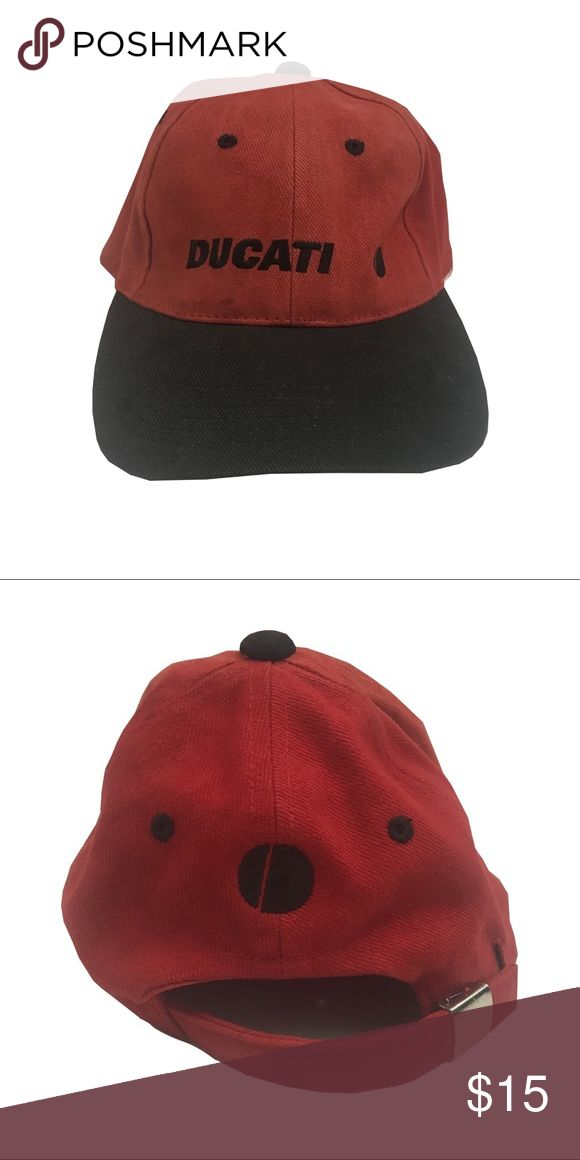 DUCATI ADJUSTABLE MEN'S BASEBALL CAP HAT Hat is in overall great shape with minor signs of wear. Comes from a smoke and pet free environment! Ducati Accessories Hats
