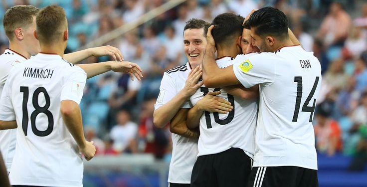 Deutschland nach 3:1-Sieg im Halbfinale  - Deutschland steht im Halbfinale des Confed Cups. Gegen Kamerun gelang der DFB-Elf ein 3:1-Erfolg.