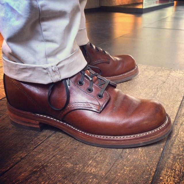 Shoe maker diaries on Sunday. Here we have got a pair of Red Wing Shoes 9016 Beckman in Cigar Featherstone resoled with the 'Mitch sole' created by Ger Wijsman and myself ;-) | www.redwingamsterdam.com |