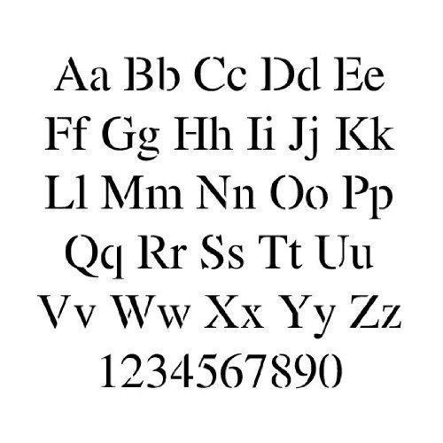 Amazon.com: Times New Roman Alphabet Stencil - 3 inch - 7.5 mil standard: Arts, Crafts & Sewing