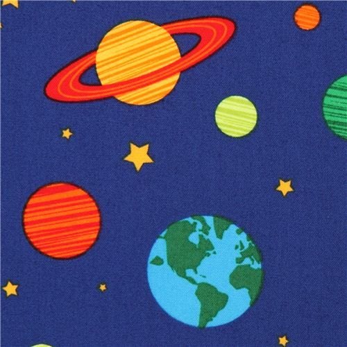 blue galaxy fabric space Robert Kaufman 1