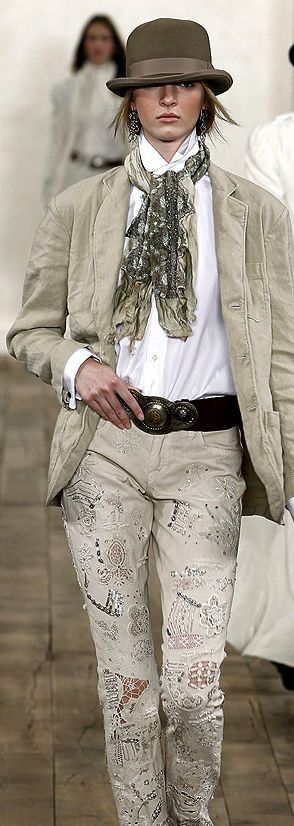 Для мене ніби неносибельне (бомж-бомжом буду), но сам образ... Ralph Lauren Fashion show details