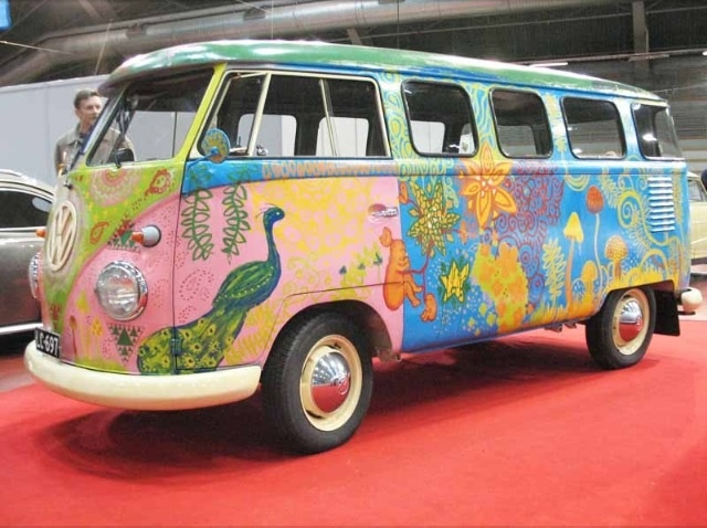 pretty vw hippie bus