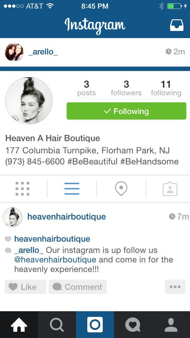 Heaven a Hair Boutique  Florham Park NJ  #bebeautiful #behandsome