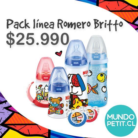 Imperdible Pack de los productos Nuk, línea Romero Britto. www.mundopetit.cl #nukbybritto #britto #nuk #bebés