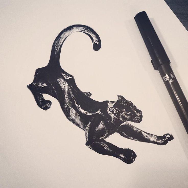 : Black leopard . #tattoo #tattooistdoy #inkedwall #design #drawing #타투 #타투이스트도이