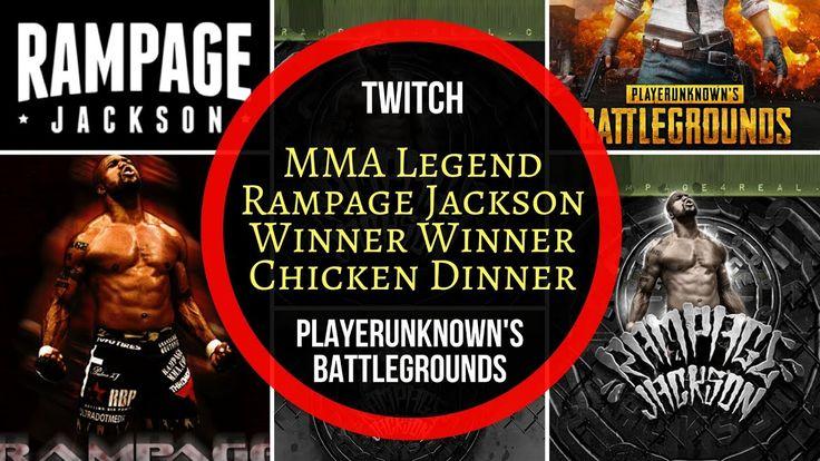 MMA Legend Rampage Jackson Win Squad Match in PlayerUnknown's PlayGround...