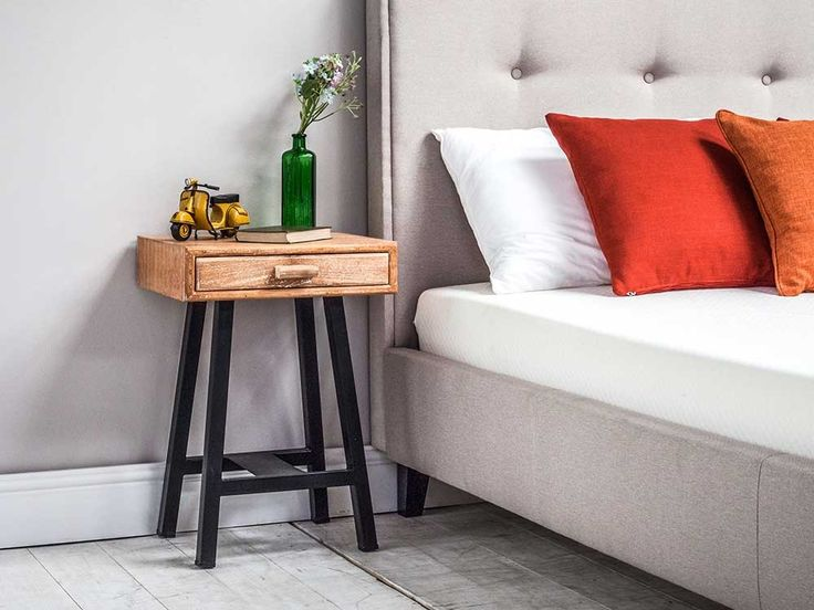 Understated and simple single drawer nightstand