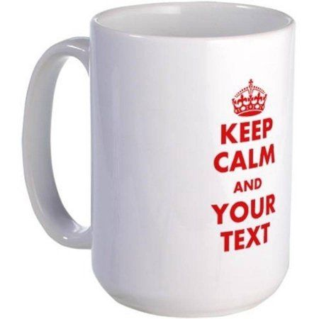 Cafepress Personalized Custom Keep Calm Mugs, Multicolor