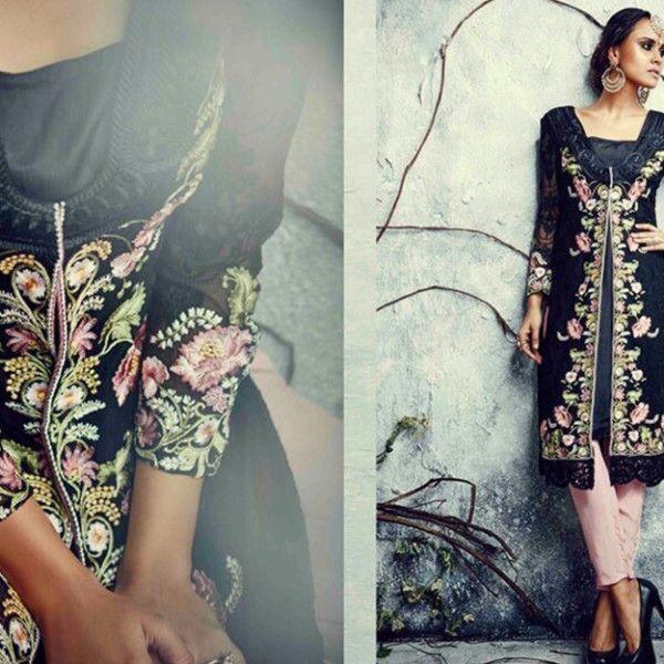 14 Black with Embroidery Punjabi