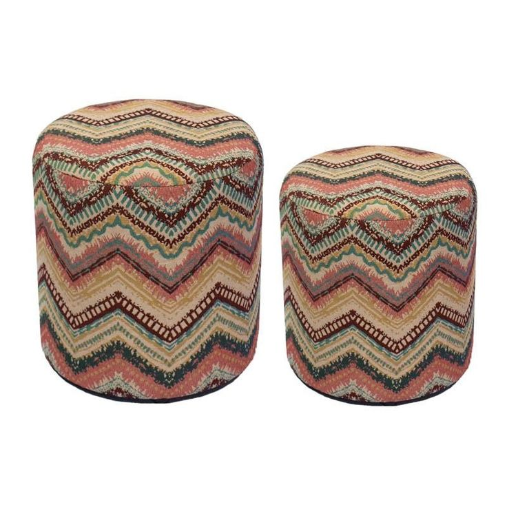 Storage Stool Set Of 2 Pieces - Stools - FURNITURE - inart
