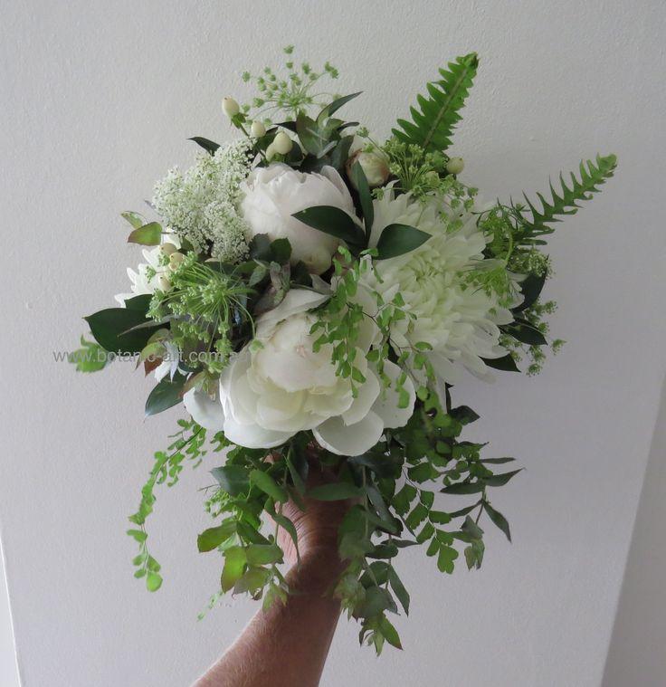 #Classic #elegant  #white and green flowers. #peonies #elegant #classic #boho #rustic #bouquet #lush greenery #bride #wedding #trailing
