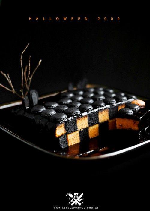 Halloween Desserts: Halloween Desserts, Autumn Fall, Checkerboard Cakes, Cakes Recipe, Halloween Calendar, Halloween Food, Halloween Treats, Calendar Cakes, Halloween Cakes