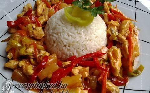 Édes-savanyú csirkemell recept fotóval