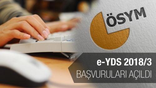 e-YDS 2018/3 Başvuruları Açıldı