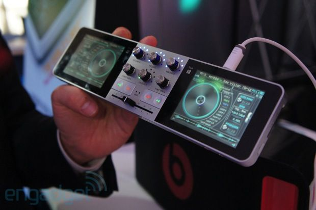 PDJ Portable Disc Jockey is a complete DJ system that fits in your pocket - Dual touch screens with built-in mixer as well as line in and mic inputs! Really cool stuff!