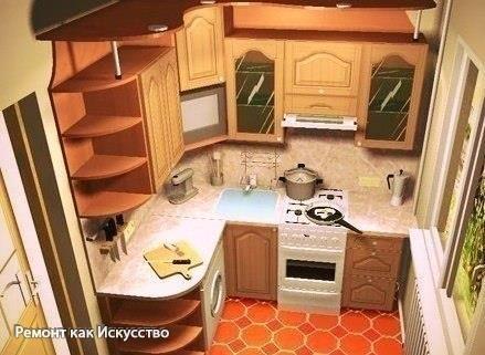 Как обставить кухню площадью 6 метров: полезные советы.  Малосемейки, хрущевки и прочие квартиры старого фонда не могут похвастаться кухней с большой квадратурой. Как правило, это небольшое помещение с площадью около 6 квадратных метров. Владельцам таких квартир приходится идти на различные ухищрения, чтобы сделать пищеблок комфортным. Некоторые для экономии места выставляют холодильник в коридор или даже разбивают кладку в запасную вентиляционную шахту, пытаясь сделать некое подобие ниши…