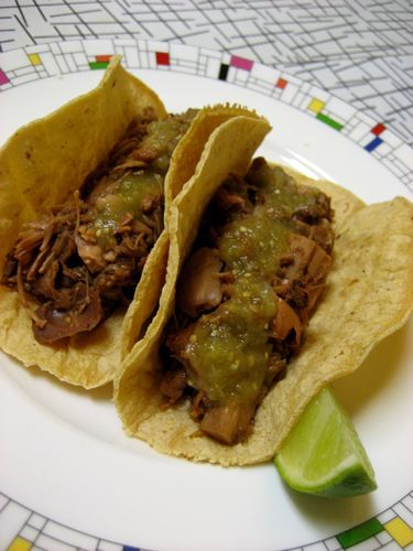 "Jackfruit ""Carnitas"" Tacos! These were good, but to me, they don't taste like carnitas...but still tasty!!"
