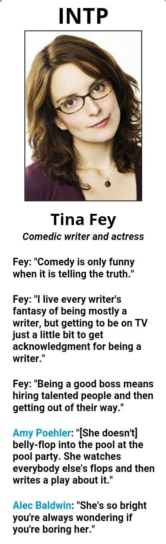 Famous INTP, Tina Fey
