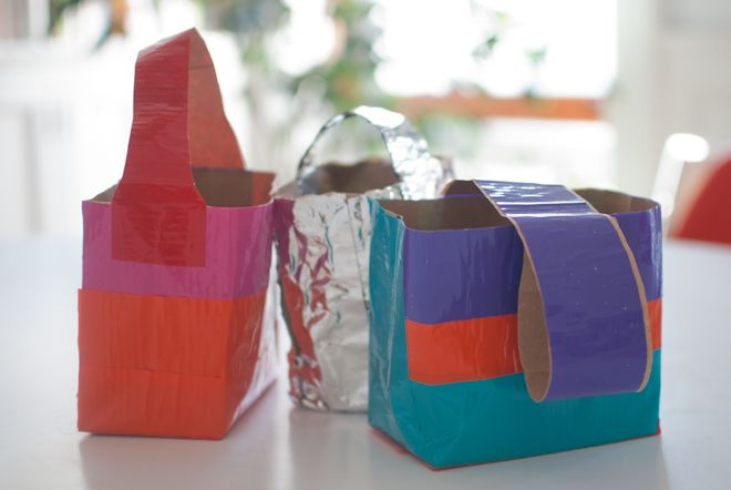 Love these duct tape Easter baskets...for any time of year!: Crafts For Kids, Duck Tape, Tape Totes