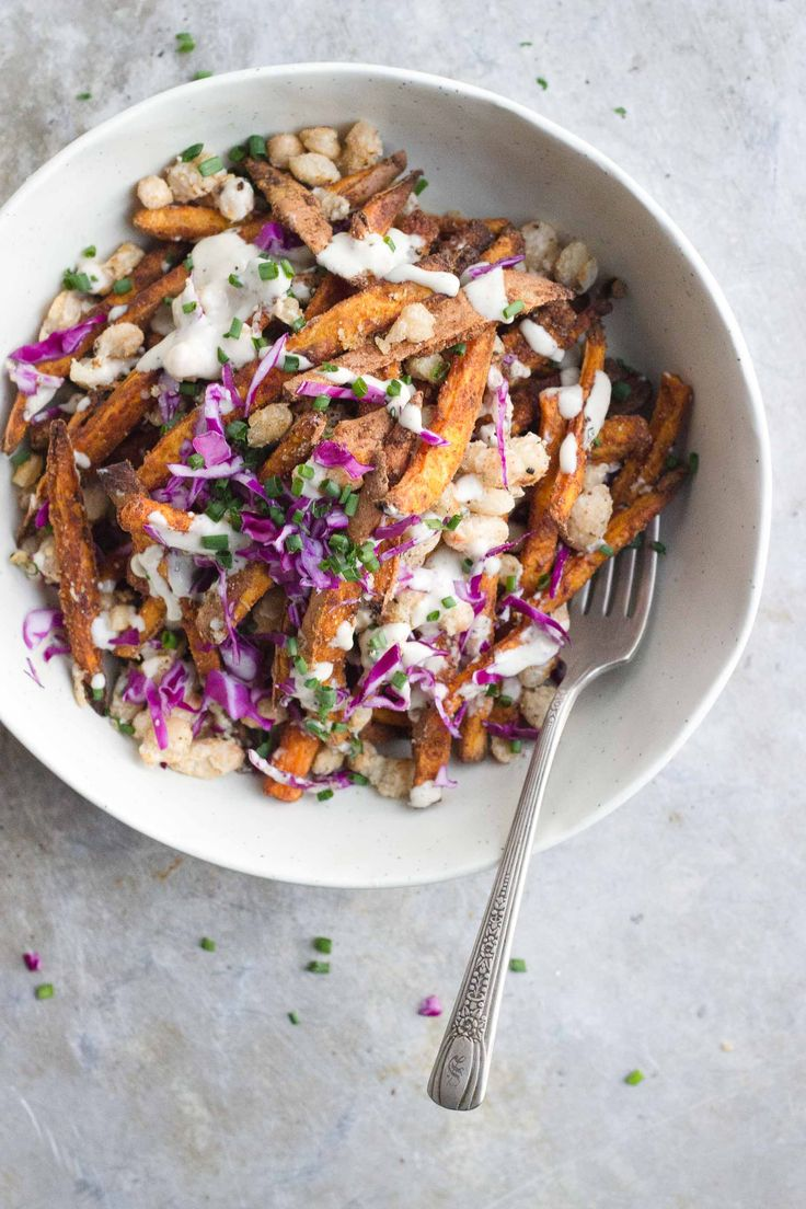 Loaded Sweet Potato Fries | @withfoodandlove