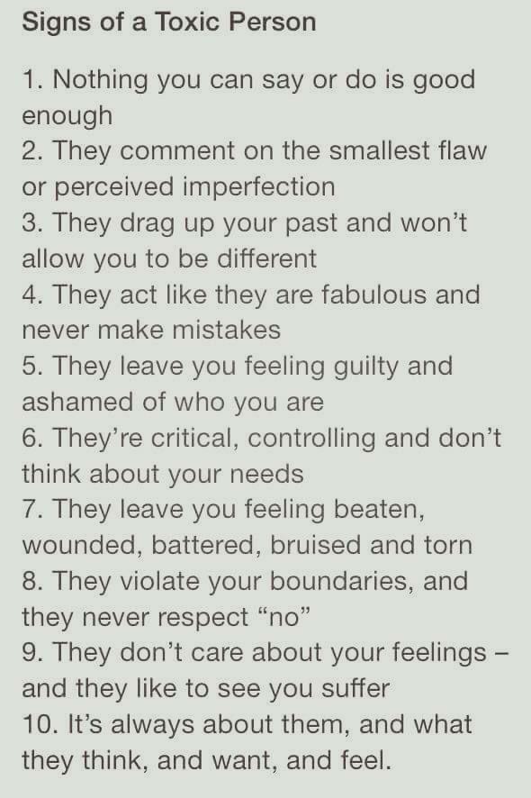 Toxic narcissists