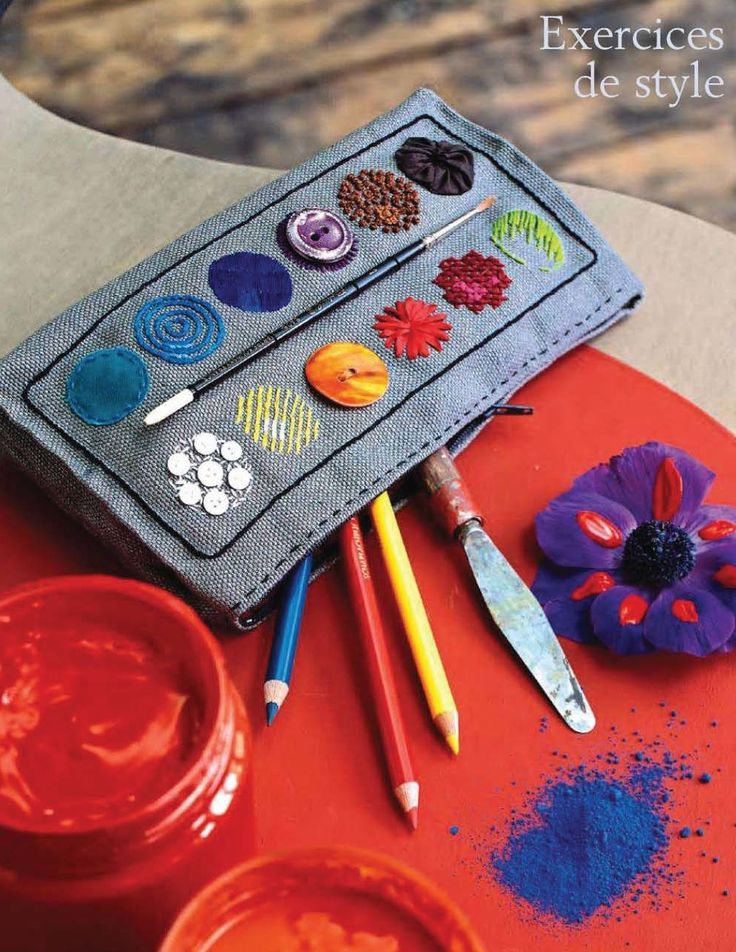 button and stitch pencil case  Marie Claire Idees