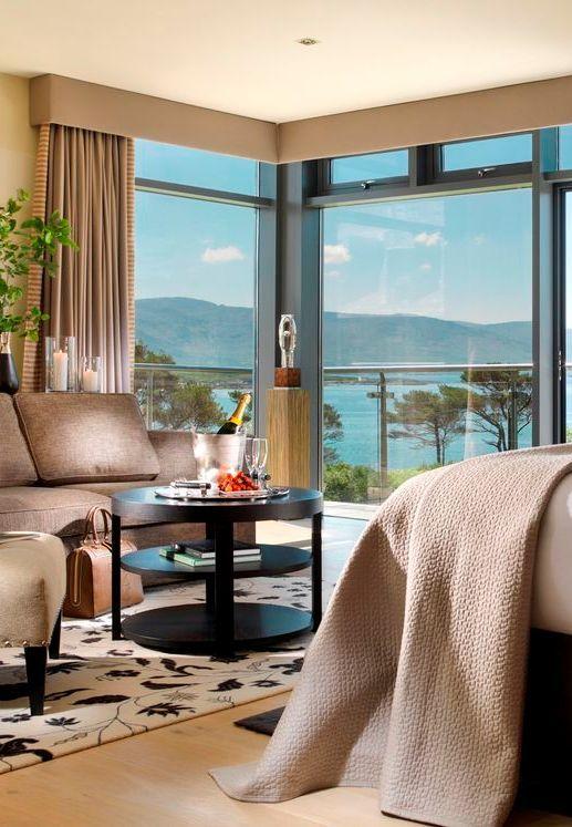 Parknasilla Resort & Spa, Sneem, Co. Kerry - The Presidential Suite offers serene luxury overlooking Kenmare Bay