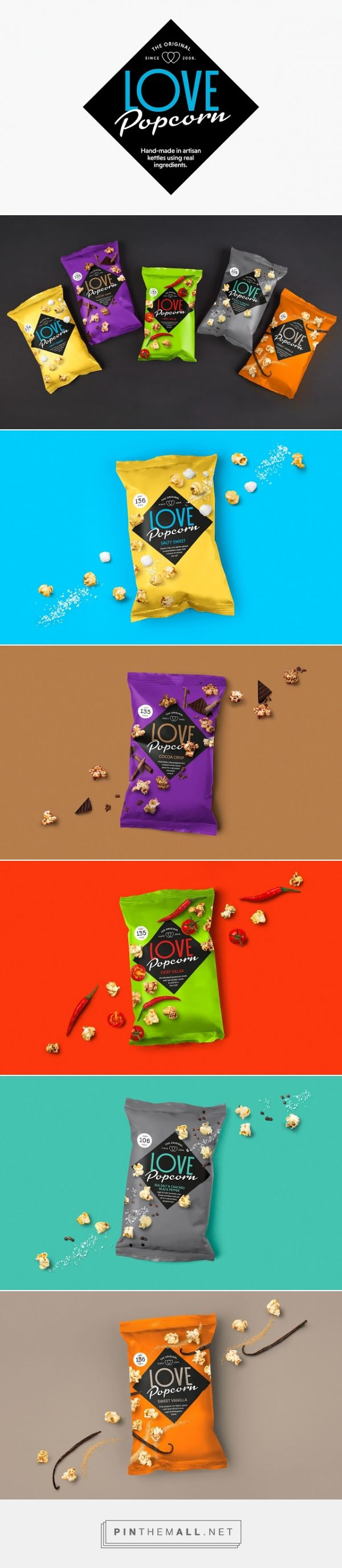 LOVE #Popcorn #packaging by Robot Food - http://www.packagingoftheworld.com/2015/02/love-popcorn.html