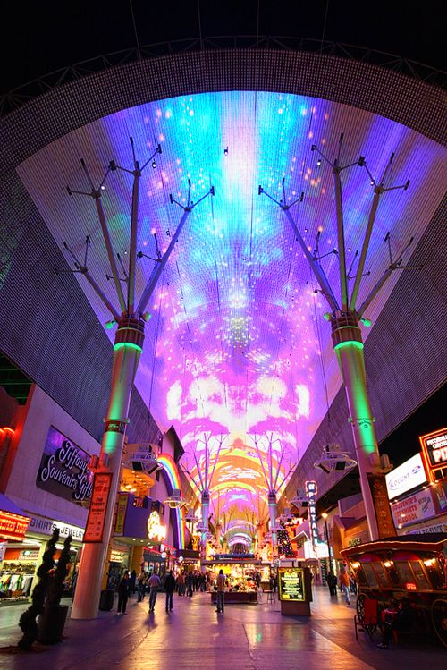 The Fremont Street Experience.