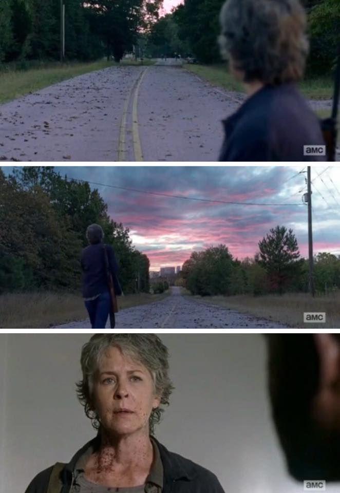 """Carol is back. The Walking Dead Season 7 Episode 13 """"Bury Me Here."""" TWD S07 E13."""