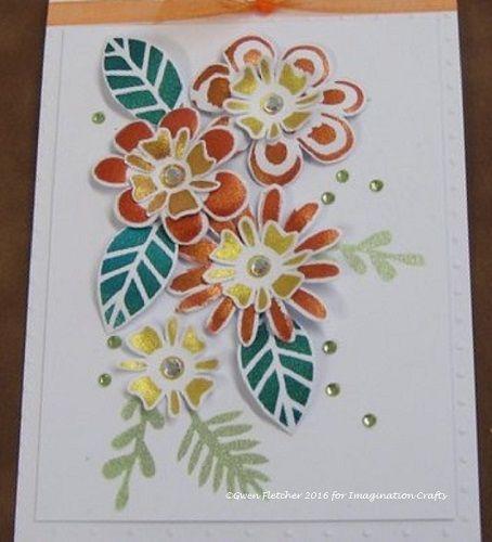 Flower Bunch stencil, Starlights.
