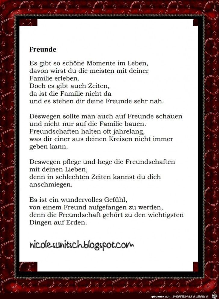 57 Gedicht Freunde Gerda Gedichte Und Sprüche