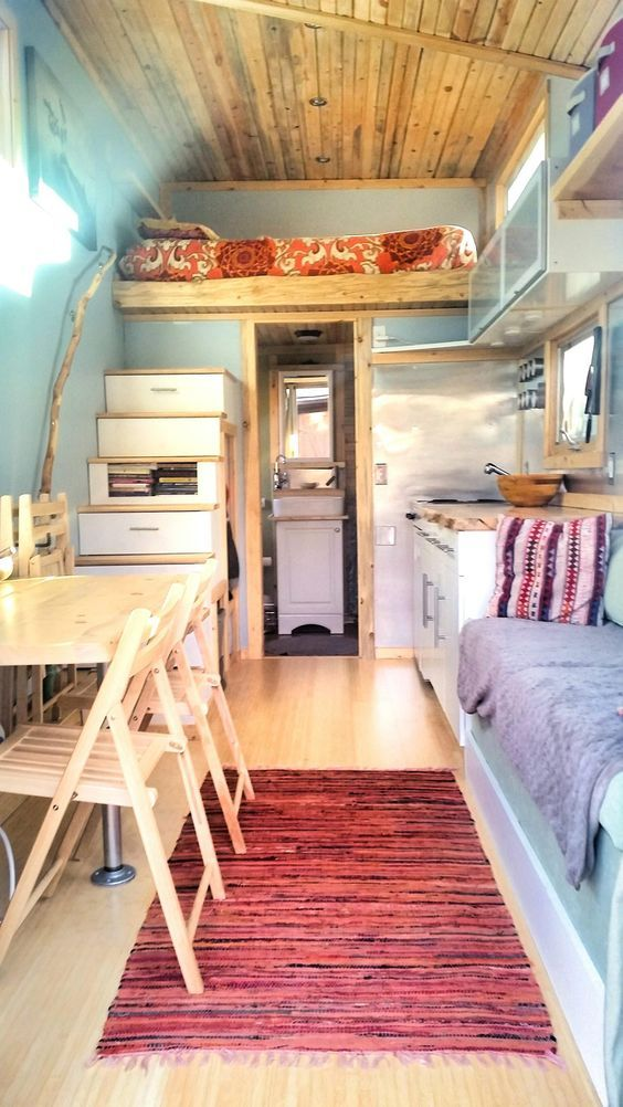 Tiny Home Designs: A 159 Square Feet Tiny House On Wheels Clad In Various