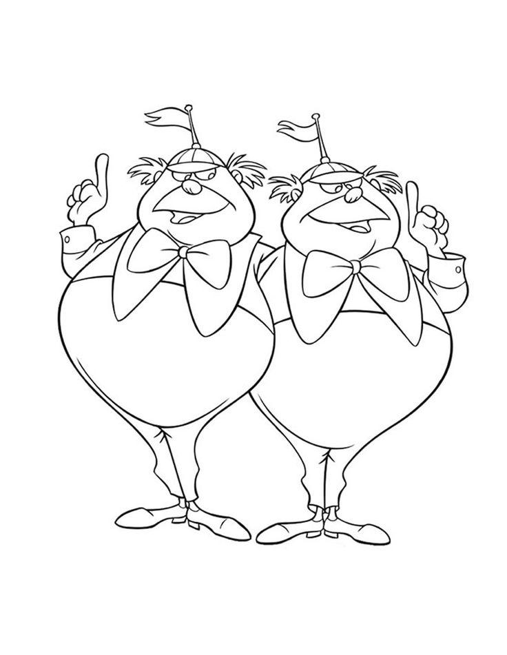 tweedle dee and tweedle dum drawing - Google Search
