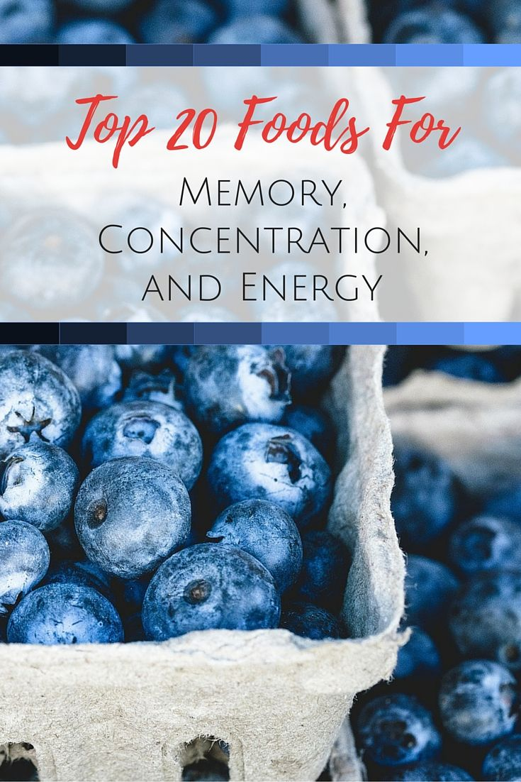 Top 20 Foods For Memory, Concentration And Energy
