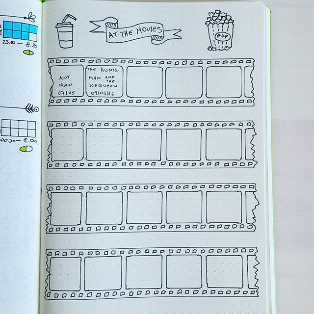 Finally I have a page too for tracking our date nights watching movies. Thanks to @therevisionguide for the amazing doodles. #bulletjournaljunkie #bulletjournalspread #bulletjournal #bulletjournaling #bujojunkies #bujolove #bujo #organize #planner #therevisionguide #doodle