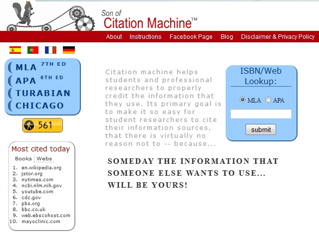 son of citation machine essay For research papers you will need both a works cited page at the end of you essay and in-text citations in only one citation is (son of) citation machine.
