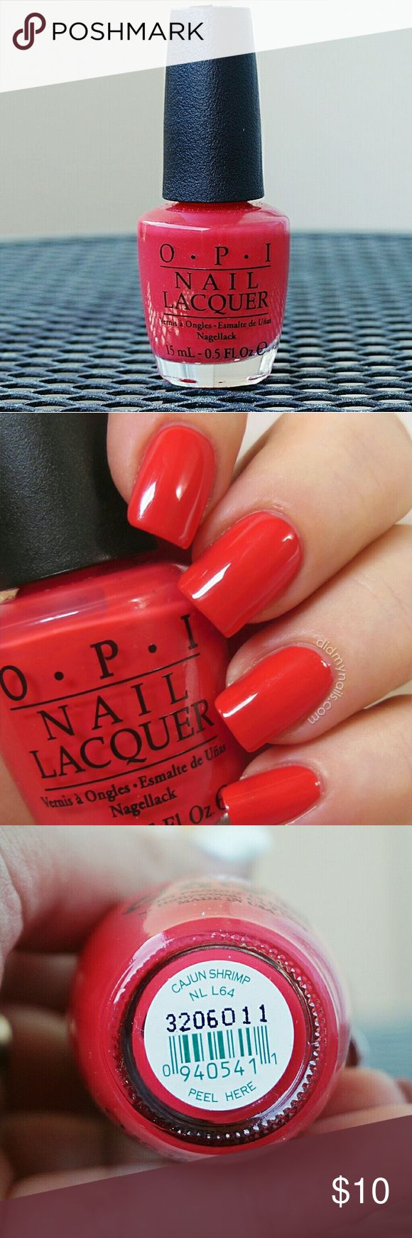 *NEW* OPI Cajun Shrimp Nail Polish HOT RED/PINK NAIL POLISH *NEW* Ships in 1-3 days. Remember to bundle so you get more bang for your buck! Also you'll only have to pay shipping once! OPI Makeup
