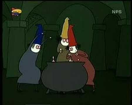 6 heksen dansen om de ketel....
