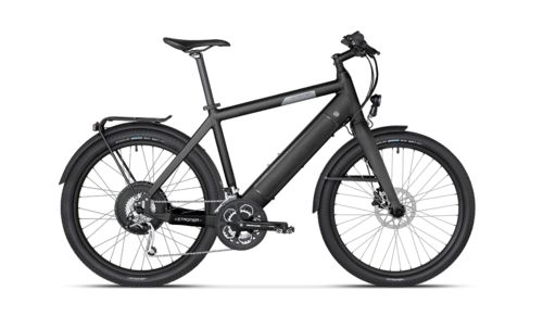 Stromer-Sleek Li-Ion power module is fully integrated into the down tube, and is easily removed with the press of a button.Efficient Regenerative braking technology increases ride range while maximizing battery efficacy.Smooth Gearless 500-watt motor delivers an efficient and ultra-quiet ride quality.