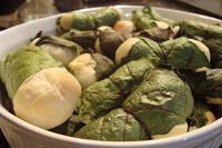 This is one of my favorite Ukrainian dishes and today I am using my mom's recipe. You take fresh made bread, wrap it in beet leaves to make ...